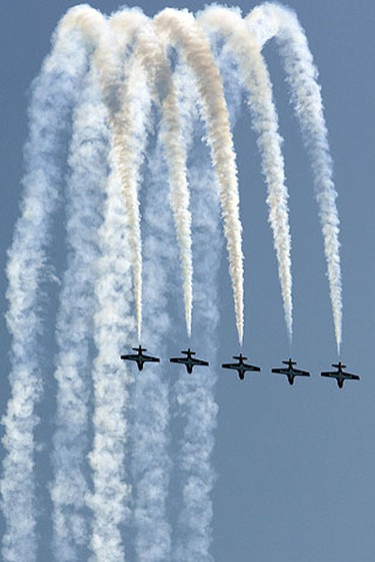 Snowbirds steal the show at the 2009 Canadian International Air Show. (Dave Thomas/Sun Media)