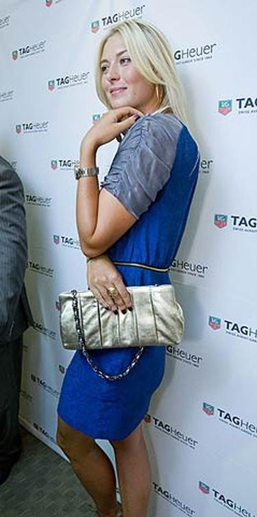 Tennis star Maria Sharapova arrives at Royal de Versailles Jewellers in Yorkville on Aug. 14, 2009. (ERNEST DOROSZUK, Sun Media)