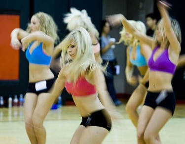 Auditions for the Raptors Dance Pak at the ACC on July 26, 2009. (ERNEST DOROSZUK, Sun Media)