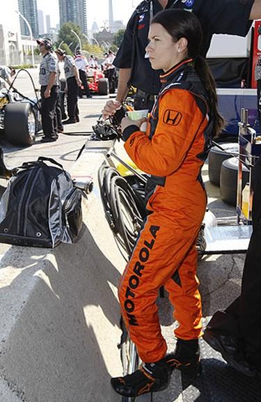 Danica Patrick's of Boost Mobile surveys the track, July 10, 2009. (Jack Boland/Sun Media)