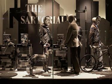 Holt Renfrew Reveals Fashion Blogger Windows. The Sartorialist, Scott Schuman is one of six bloggers featured in Holt Renfrew's tribute to online style leaders. (CNW Group/Holt Renfrew photo)