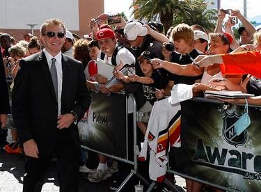 Chicago Blackhawks Patrick Kane arrives for the 2009 NHL Awards in Las Vegas, Nevada on June 18, 2009.  (REUTERS)