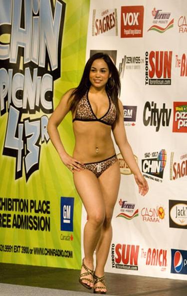 2009 CHIN bikini pageant contestant Chantel at Exhibition Place. (SUN MEDIA/Stan Behal)