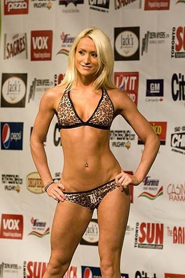 2009 CHIN bikini pageant contestant Taya at Exhibition Place. (SUN MEDIA/Stan Behal)