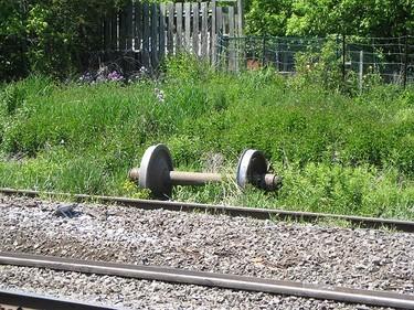 Scene photos of a freight train derailment in Oshawa on June 5, 2009. (Photo by Paul Jordan)
