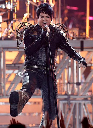 """American Idol"" finalist Adam Lambert performs with KISS during the finale of Season 8 of ""American Idol"" in Los Angeles on May 20, 2009. (REUTERS)"