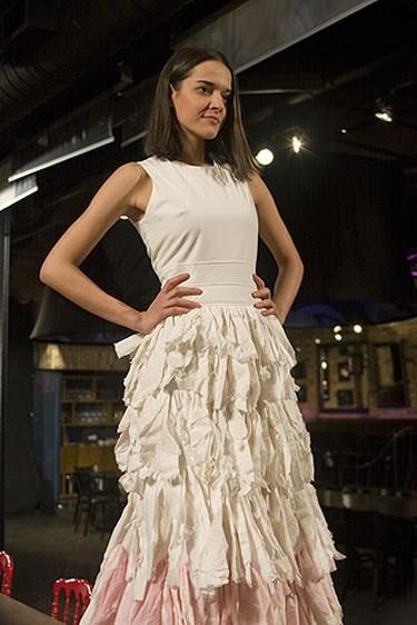 Maryam poses in a dress designed by David Dixon. (CTV/Allen Yee/HO)