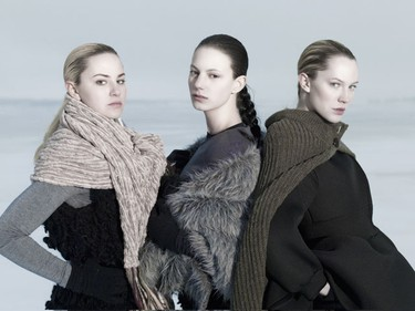 (L-R) Jill, Nikita and Heather strike a pose off Canada's East Coast on Episode 1. (CTV/Nigel Barker/HO)