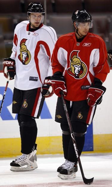 Nov 12, 2008 Ottawa Senator's Dany Heatley and Chris Kelly had heated words during Senators practice Wednesday at Scotiabank Place. ( Tony Caldwell, Sun Media)