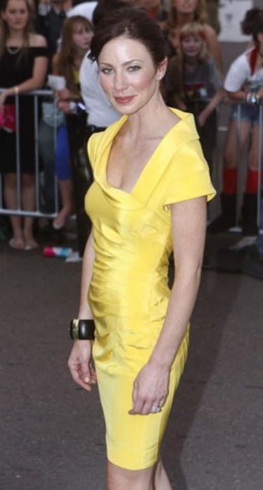"Actress Lynn Collins arrives at the premiere of the movie ""X-Men Origins: Wolverine"" in Tempe, Arizona April 27, 2009. (Joshua Lott, Reuters)"