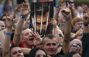 "Fans attend the premiere of the movie ""X-Men Origins: Wolverine"" in Tempe, Arizona April 27, 2009. (Joshua Lott, Reuters)"
