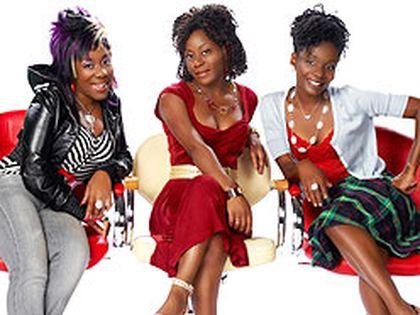 The stars of Global comedy da Kink in my Hair -- Trey Anthony, Ordena Stephens-Thompson and Ngozi Paul.