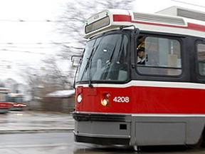 TTC streetcar. (Jack Boland/Toronto Sun files)