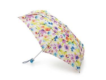 In Bloom accessory: Fulton SuperSlim-2 Soft Floral Umbrella, $26, Fultonumbrellas.com.