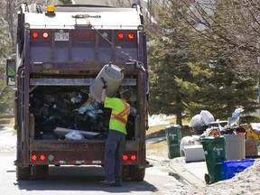 Garbage collection in Ottawa. (Errol McGihon/Ottawa Sun)