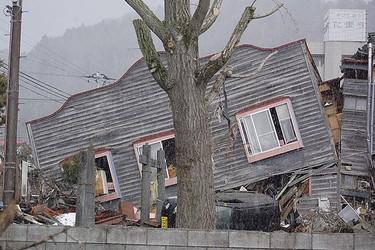 A damaged home in earthquake-battered Japan. (GlobalMedic Photo)