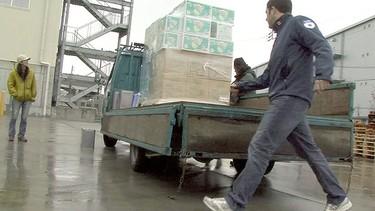 Matt Capobianco loads an aid truck in earthquake-battered Japan. (GlobalMedic Photo) PM