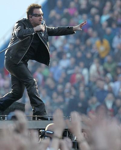Bono of U2 performs during their 360 World Tour in Winnipeg May 29, 2011. (BRIAN DONOGH/QMI AGENCY)