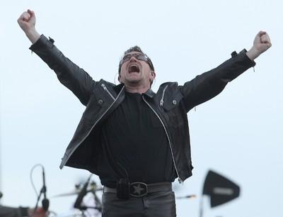 Bono of U2 performs during their 360 World Tour in Winnipeg May 29, 2011.(BRIAN DONOGH/QMI AGENCY)