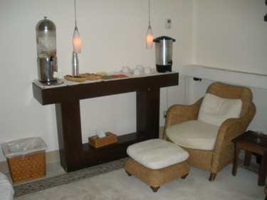 The lounge in the Armonia Spa at Pueblo Bonito Pacifica Resort & Spa. (Nicole Feenstra/QMI Agency)