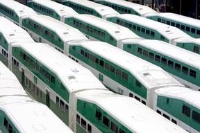 GO Transit train cars. (Toronto Sun files)