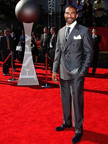 Los Angeles Dodgers' Matt Kemp arrives at the 2011 ESPY Awards in Los Angeles on July 13, 2011. (REUTERS/Danny Moloshok)