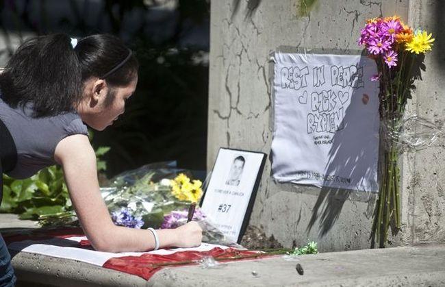 Rick Rypien memorial in Vancouver