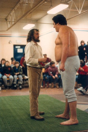 Former professional wrestler Ivan Radocaj (right) was found dead in his home near Inwood, Man., in September 2007.