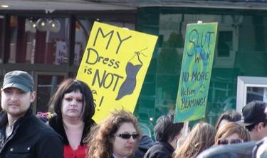 More than 300 people came out to take part in SlutWalk Winnipeg on Saturday afternoon. (Jillian Austin/Winnipeg Sun)