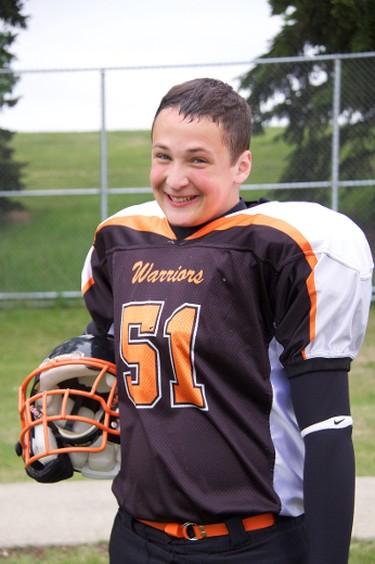 Vincent Stover, 16, victim in Oct. 22, 2011 fatal Grande Prairie Alberta crash. PHOTO SUPPLIED