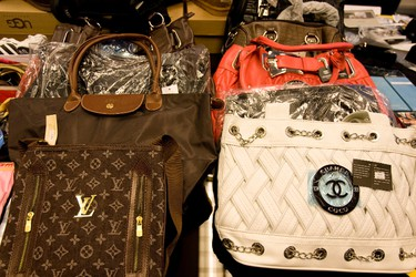 Counterfeit purses. (DAVE THOMAS/Toronto Sun)