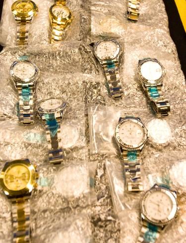 Counterfeit Rolex in bubble wrap. (DAVE THOMAS/Toronto Sun)