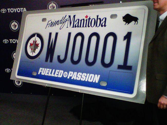 Jets licence plates