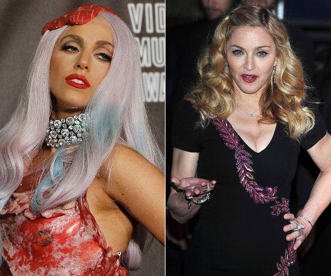 """Lady Gaga and Madonna (<A HREF=""""http://www.wenn.com"""" TARGET=""""newwindow"""">WENN.COM</a> file photo)"""