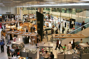 7. Peruse duty-free: People shop Duty Free in Doha, Qatar. (Timur Kulgarin/Shutterstock.com)