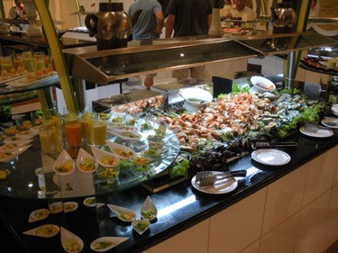 Sample the seafood at the Iberostar Grand Hotel Bavaro's dinner buffet. (Nicole Feenstra/QMI Agency)