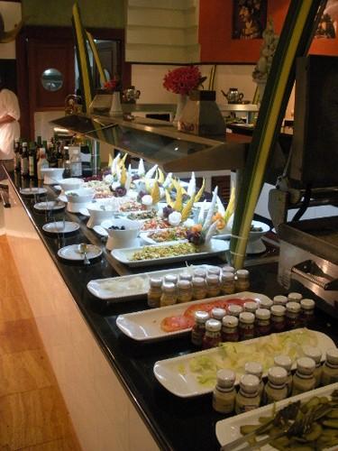 Salads and fresh veggies are a tasty dinner side at the Iberostar Grand Hotel Bavaro dinner buffet. (Nicole Feenstra/QMI Agency)