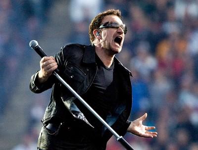 Bono of U2 performs at Commonwealth Stadium in Edmonton, on Wednesday, June 1 2011. It had been 14 years since U2 played in Edmonton. AMBER BRACKEN/QMI AGENCY