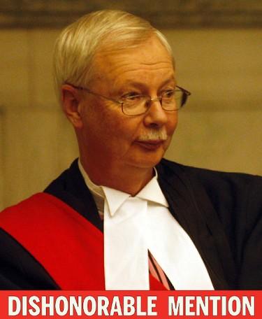 Manitoba judge Robert Dewar.