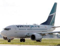 A WestJet plane. File photo