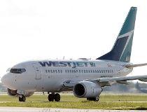 A WestJet plane