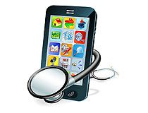 Smartphone with stethoscope