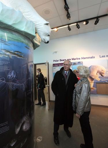 during the Assiniboine Park Conservancy's official opening of the new International Polar Bear Conservation Centre at the Assiniboine Park Zoo on Mon., Jan. 23, 2012. JASON HALSTEAD/WINNIPEG SUN QMI AGENCY RE: Turenne story