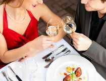 Couple date dinner