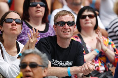 Fans cheer on athletes during the Donovan Bailey Invitational meet held at Foote Field in Edmonton, Alberta, on June 16, 2012.  IAN KUCERAK/EDMONTON SUN/QMI AGENCY