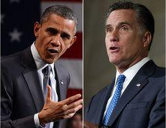 Barack Obama and Mitt Romney. (AFP)