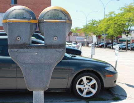 Parking meters in Owen Sound