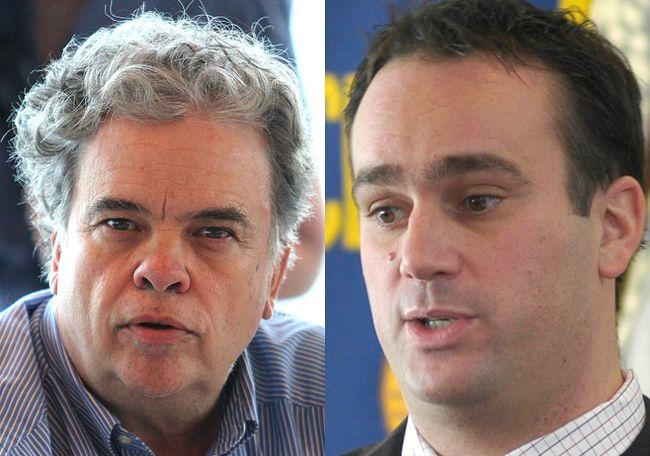 Coun. Jim Neill, left, and Mayor Mark Gerretsen. Whig-Standard