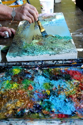 Painting workshop at Jack Lockhart Gallery_3