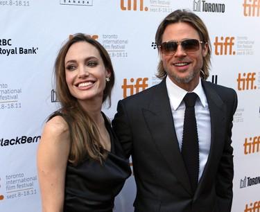 Brad Pitt and Angelina Jolie at the Toronto International Film Festival in 2011. (MICHAEL PEAKE/QMI AGENCY)
